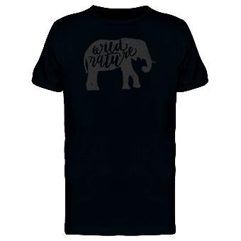 Wilde Natur Elefant T-Shirt Herren-Bild von Shutterstock