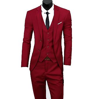 Allthemen Men's Suit Wedding Party Dinner 3-Pieces Suit Blazer Vest Pants 9 Colors