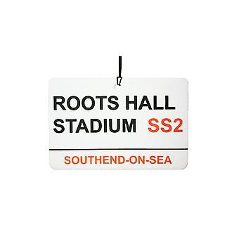 Southend / korzenie Hall Stadium Street Zarejestruj samochodowa zawieszka zapachowa