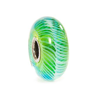 Trollbeads Turquoise Feather Silver & Glass Bead TGLBE-10243