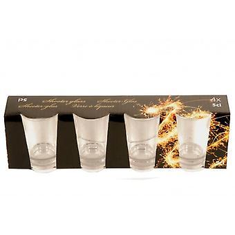 4 Piece Shot Glass Set 5cl Whisky Vodka Rhum Cordials Lunettes