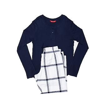 Minijammies 5490 Girl's Emily White Mix Check Modal Pyjama Set
