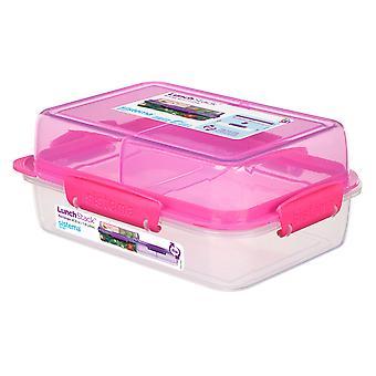 Sistema Rectangular Lunch Stack 1.8L, Pink