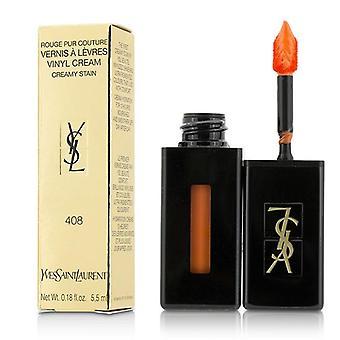 Yves Saint Laurent Rouge Pur Couture Vernis A Levres Vinyl Cream Creamy Stain - # 408 Corail Neo-pop - 5.5ml/0.18oz