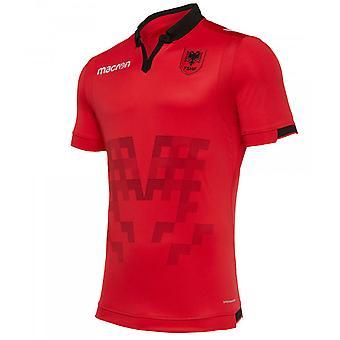 2019-2020 Albania Home Macron Football Shirt