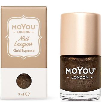 MoYou London Stamping Nail Lacquer - Gold Espresso 9ml (MN050)