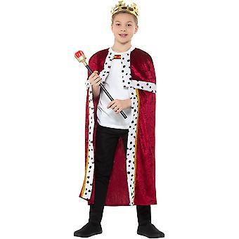 King set barn Unisex Cloak SCEPTER Crown Queen Carnival tillbehör King Queen kit kostym Kids kostym