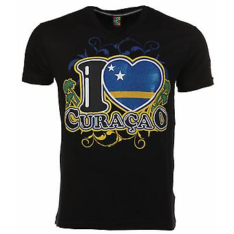 Camiseta Me encanta Curazao-Negro