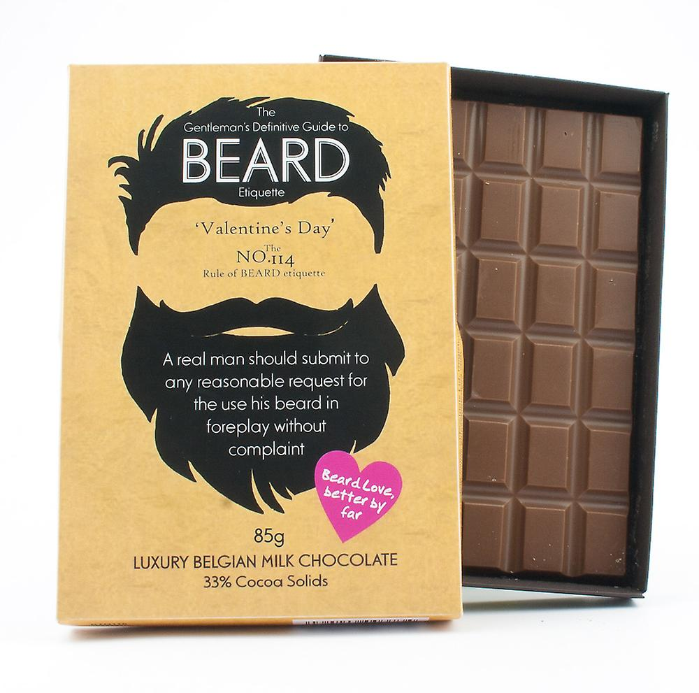 Funny Valentine's Day Gift for Bearded Men Beard Lover Present Chocolate Greeting Card BTQ115