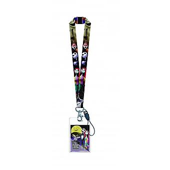 Lanyard - Nightmare Before Christmas - Jack & Sally w/Card Holder New 26576