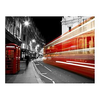 Artgeist Wallpaper Red phone box Londyn (Decoration , Wall murals , Wall murals standard)