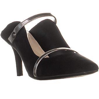 Alfani Womens Jaaiil Leather Pointed Toe D-orsay Pumps