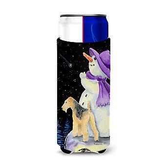 Schneemann mit Lakeland Terrier Ultra Getränke Isolatoren für schlanke Dosen SS8956MUK