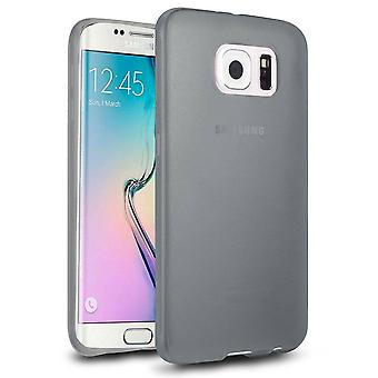 Samsung Galaxy S6 Edge Case Silicone Transparent Noir - Coolskin3T