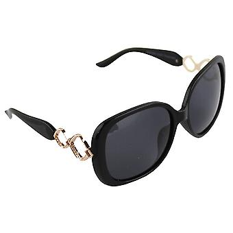 Sunglasses Women's Polaroid Oval - Black with free brillenkokerS325_2