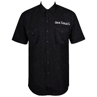 Jack Daniels Mini Checkered Short Sleeve Button Up Shirt
