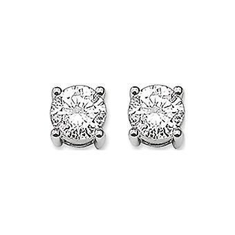 Thomas Sabo Damen Ohrringe in Sterlin 925 Silber mit weißen Zirkonia