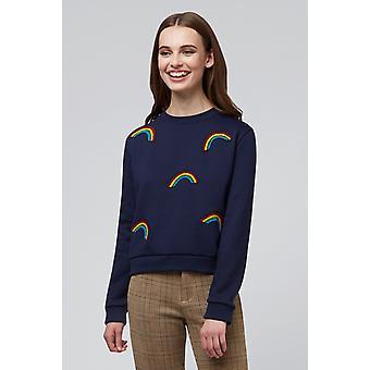 Louche Jan Rainbows Sweat Navy