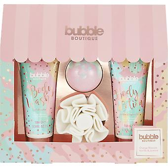 Style & Grace Bubble Boutique Gift Of The Glow - 80g Fizzer, 100ml Body Lotion, 100ml Body Wash and Shower Flower