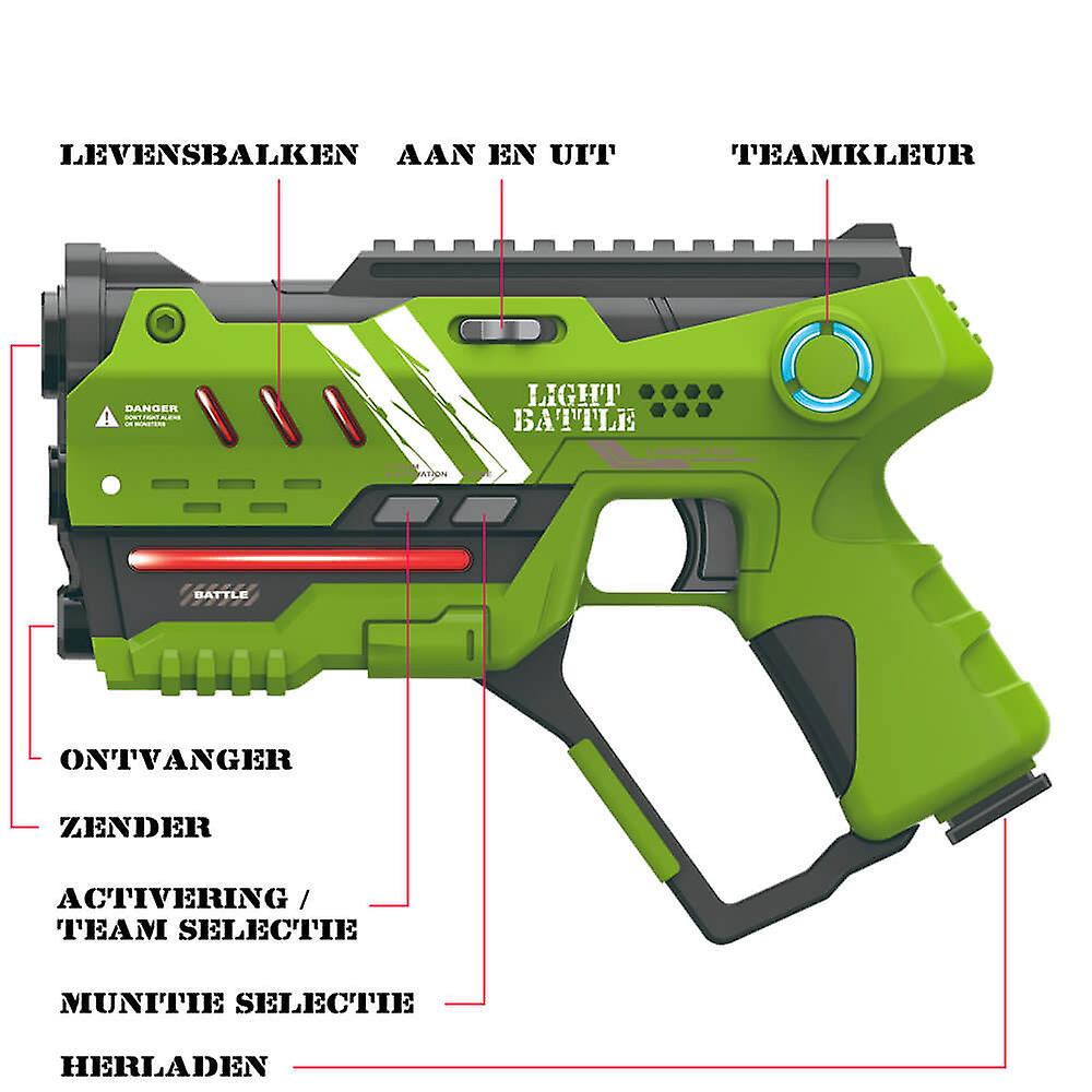 4 Anti-Cheat laser game pistols-green and red