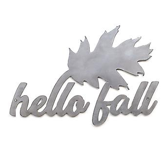 Hello Fall-Metal cut teken 16x11in