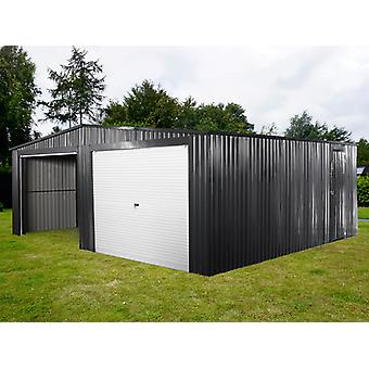 Doppel-Metallgarage 6,37x5,13x2,41 m ProShed®, anthrazit