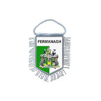 Sinalizar mini bandeira país carro decoração lembrança Blason Fermanagh