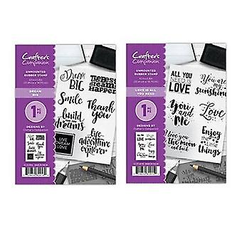 Crafter's Companion A6 Rubber Stamps 3D x 2