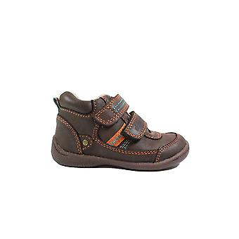 Startrite Super Soft Max Brown Leather Boys Rip Tape Botines