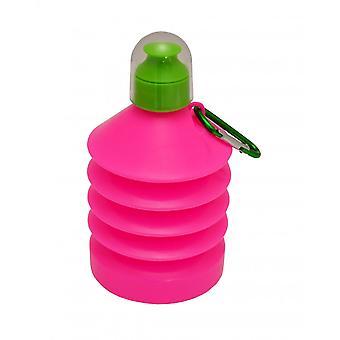 Wham opslag KRIMPBARE 500ml plastic water fles roze/groen