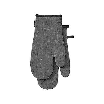 Ladelle Eco Recycled Set of 2 Charcoal Oven Mitts