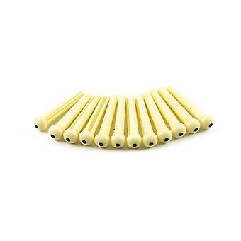 WD Music Plastic Bridge Pins Cream With Black Dot - Saco de 12