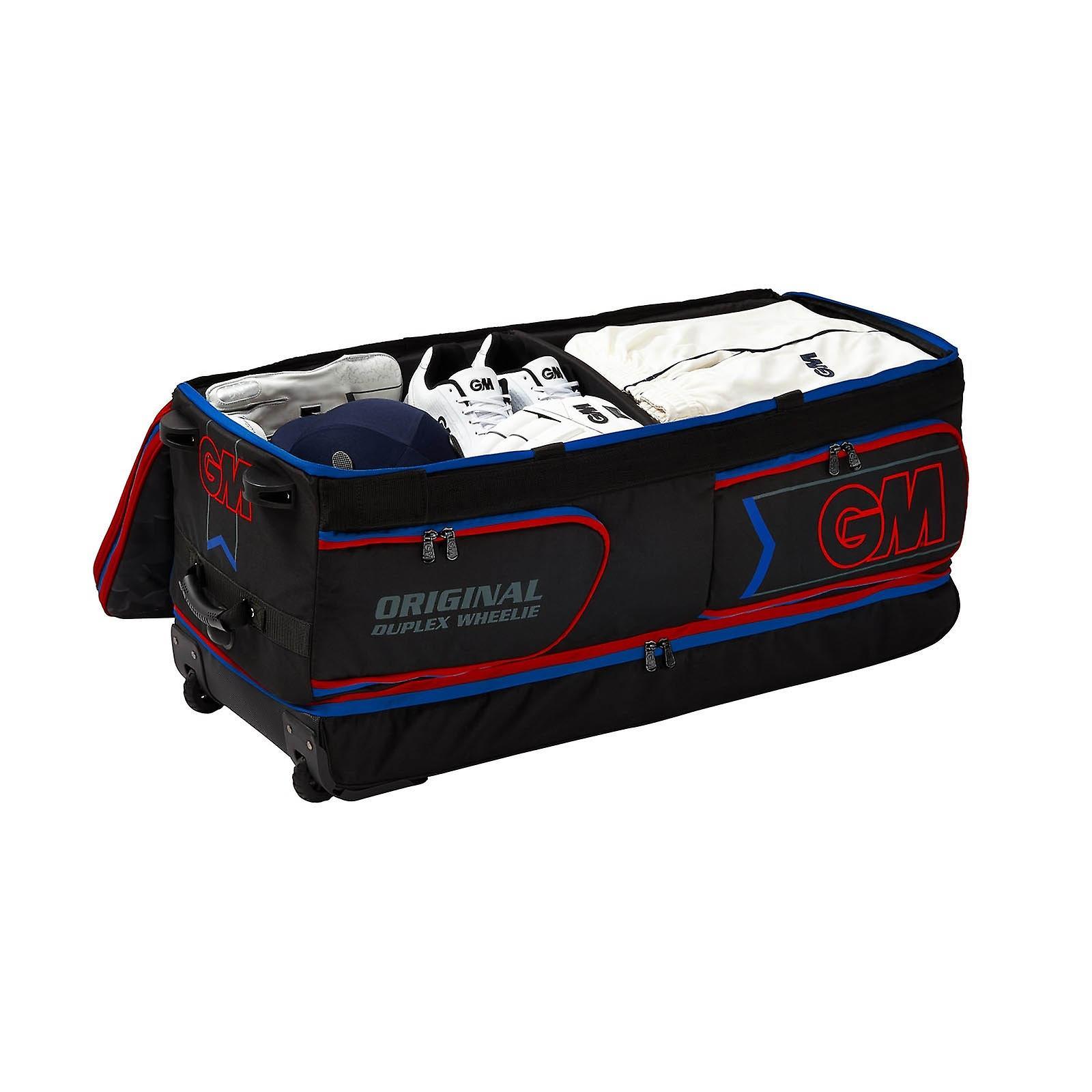 Gunn & Moore 2019 Original Duplex Wheelie Cricket Duffle Bag Black/Red/Blue