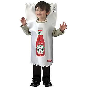 Heinz Ketchup Bottle Red Tomato Sauce Condiment Toddler Girls Boys Costume 3-4T