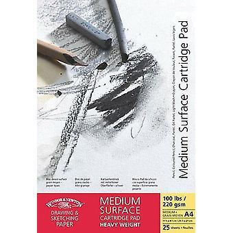 Winsor & Newton Medium Surface Drawing Pad Gummed 220gsm A5