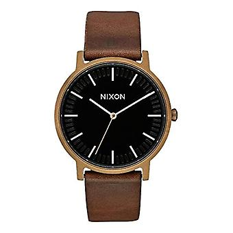 NIXON A10583053-00-Adult Unisex wrist watch, leather, color: Brown
