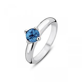 Ring Ti Sento Indigo Impressions 12126DB - Silver ring blue stone darks claw Woman