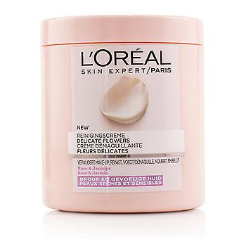 L'oreal Skin Expert Delicate Flowers Cleansing Cream - For Dry Skin - 200ml/6.7oz