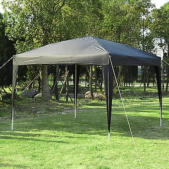 Outsunny 3 x 3M Garden Pop Up Gazebo Marquee Party Tent Wedding Canopy (Black) + Carrying Bag