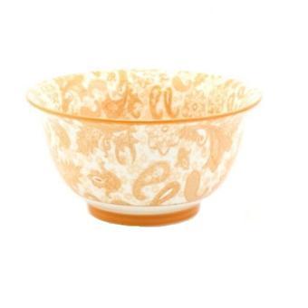 Lesser & Pavey Ceramic Oriental Rice Bowls - Orange