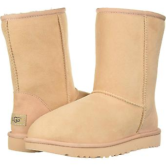 Ugg Australia Womens Classic Short II Leather Round Toe Mid-Calf Cold Weather...