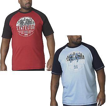 Duke D555 Mens Jarvis Big Tall Casual Crew Neck Short Sleeve T-Shirt Top Tee