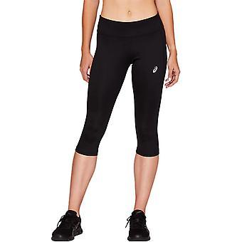 Asics Sport Run Womens Ladies Running Fitness Training Knee High Tight Black