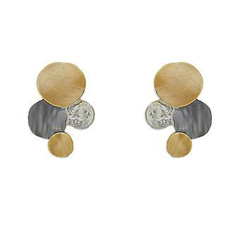 Multicoloured Discs Stud Earrings