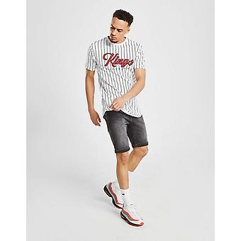 New Supply & Demand Men's Puncture Denim Shorts Grey