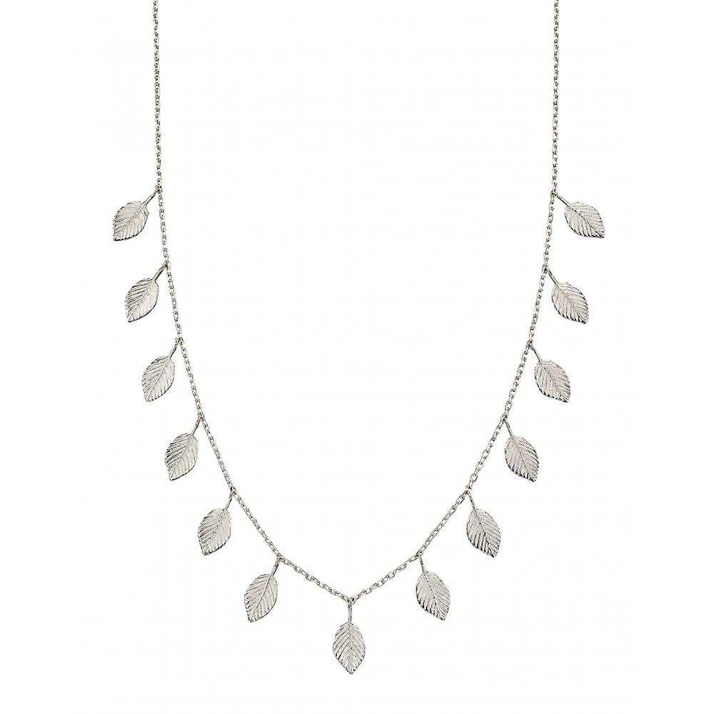 Joshua James Serenity Silver Multi Leaf Necklace