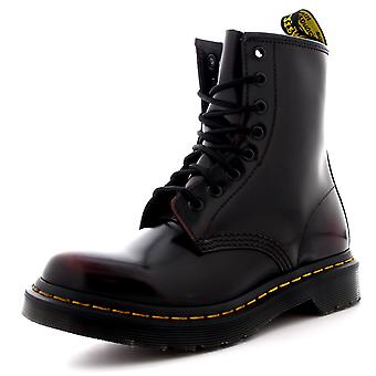 Femmes Dr Martens 1460 Arcadia Cuir Cherry Red Burnished Ankle Boots