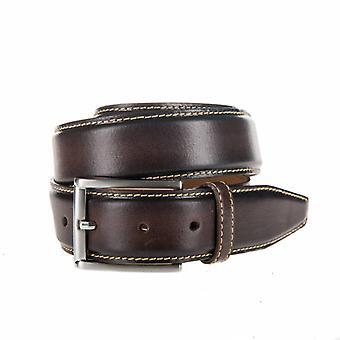 Stylish Brown Pantalon Belt With Contrasting Stitching