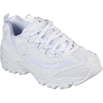 Skechers Girls D'Lites Color Chrome Lace Up Sports Trainers