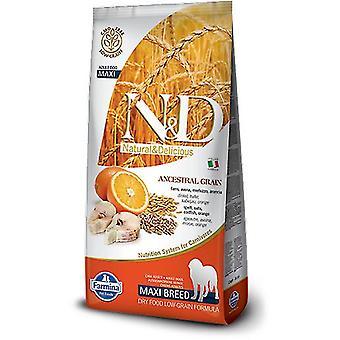 Farmina N&D Low Ancestral Grain Adult Maxi Fish and Orange (Dogs , Dog Food , Dry Food)